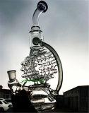 De lange Waterpijpen van de Wasfles van de Waterpijpen van de pijpen van het Glas van de Recycleermachine van de Draaikolk