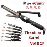 M602f обеспечивают утюг самых лучших Titanium волос бочонка завивая