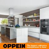 Armadi da cucina di legno sinterizzati la Spagna acrilici bianchi moderni della roccia (OP16-A02)