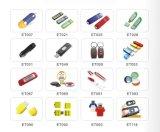 Flash plástico do USB da movimentação 16GB do flash do USB do cartão com pacote da caixa do estanho (EC003)