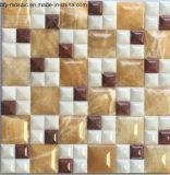 Het gemengde Marmer van de Tegel van de Jade van het Mozaïek van de Steen van de Kleur Natuurlijke voor de Tegel van de Vloer (FYSL332)