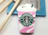 Caja caliente del silicón del helado de Starbucks de la historieta para iPhone6