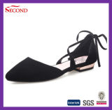 Черные кожаный сандалии женщин полосы