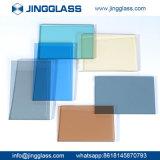 La sûreté en gros de construction de bâtiments a durci la glace teintée colorée en verre