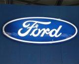 Напольный логос автомобиля Thermoforming вакуума освещения Luminated СИД