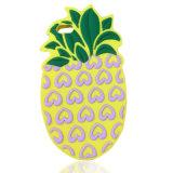 Милый зеленый цвет сердца плодоовощ выходит случай телефона силикона ананаса (XSF-031)