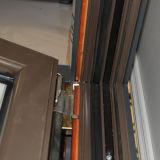 Guichet vers l'intérieur d'inclinaison et de spire de profil en bois en aluminium de qualité avec l'obturateur dans la double glace Kz202