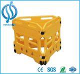 Barriera di plastica espansibile gialla di traffico