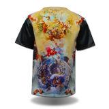 T-shirt en cuir d'impression de chemise d'hommes en gros