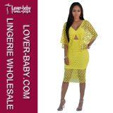 Signora Skirt Dress (L36094-1) della fasciatura di Bodycon della donna