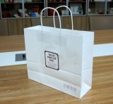Competitive Price를 가진 Paper Handle를 가진 백색 Craft Paper Bag