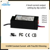 Courant constant Triac / Elv Dimmable LED Driver 13W 250/275 / 300 / 325mA