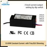 Excitador atual constante 13W 250/275/300/325mA do diodo emissor de luz do TRIAC/Elv Dimmable
