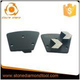 De pijl segmenteert de Concrete Malende Diamant van het Trapezoïde