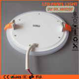 3+2W rund/acrylsauerinstrumententafel-Leuchte der Quadrat-blaue weiße doppelte Farben-LED für Hauptdekoration