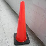 Base preta padrão americana de 36 polegadas cone do tráfego do PVC de 4.5 quilogramas