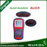 Autolink Al419 Obdiiはコード読取装置の自動スキャンナーOBD2のスキャンナーの自動診察道具でき、