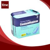 Serviette sanitaire sanitaire de Madame Female de garnitures de bonnes de fournisseur de la Chine hautes dames molles de coton absorbant