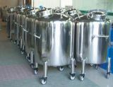 Tanque de armazenamento sanitário tanque asséptico com classificação alimentar com 4 rodas