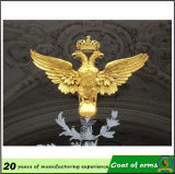 ロシアGold Plated 3D二重Headed Eagle Emblem