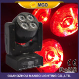 Luz movente clara do diodo emissor de luz do DJ 8X15W RGBW da cabeça movente do estágio