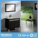 Mobílias clássicas compatas da vaidade do banheiro da madeira contínua com gabinete do espelho (BV177W)