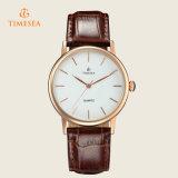 Mann-Geschäfts-Uhr-Quarz-wasserdichte beiläufige Armbanduhr KreisDail 72214