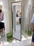 خزانة ثوب واضحة إطار مرآة مع زجاج