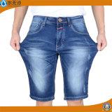 Calças básicas elásticas das calças de brim da sarja de Nimes da forma do OEM da fábrica