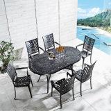 Presidenze di alluminio esterne del patio della mobilia della garanzia lunga della fabbrica di Foshan per quattro persone