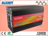 Precio de fábrica de Suoer 1500W del inversor de la potencia del inversor 12V de la red con el cargador (HAD-1500D)