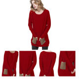 Eindeutige Entwurfs-Frauen strickten Kaschmir-Strickjacke Ew16A-001p