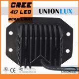4D la lumière de vente chaude 12V DEL de cosse de la lentille DEL a ajusté à affleurement la lumière de travail du support 20W DEL du support affleurant pour le camion