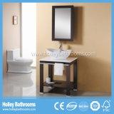 Vanité classique de salle de bains en bois solide de type de cavité américaine de contrat (BV183W)