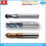 Carboneto contínuo Endmills HRC55 da elevada precisão para o alumínio
