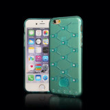 iPhone 6のためのDiamondの超Thin Colorful Hello Kitty TPU Phone Case