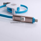 2 в 1 USB Data Cable Multi Function Data Double Micro