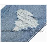 Джинсовая ткань Jean женщин, прямая джинсовая ткань с отверстиями