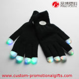 Guantes del negro de las yemas del dedo del color multi al por mayor del LED que contellean