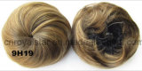 Невеста отпочковывается парик головного Chignon шариков круглый головной прямой синтетический