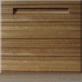 Meubles en bois de cuisine de placage de qualité dans le type européen
