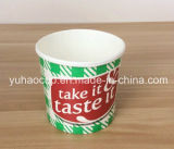 Подгонянная чашка мороженного с крышкой (YH-L156)
