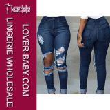 Сорванные голубые джинсыы 2016 джинсовой ткани женщин (L450-2)