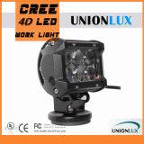 barra ligera de la lente LED de 1500lm 18W 4D para campo a través