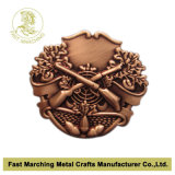 Pin del risvolto, Antique Copper Badge con 3D Design