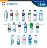 Bottiglia di acqua minerale bevente che risciacqua macchina di coperchiamento di riempimento