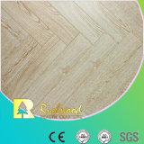 Geprägter Eichen-V-Grooved lamellenförmig angeordneter Fußboden der Werbungs-8.3mm AC3