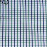 Tela teñida hilado tejida 100% del popelín de algodón para las camisas/alineada Rls40-23po
