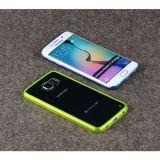 Butoir clair hybride de la couverture arrière TPU pour le bord de Samsung S6