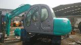 A esteira rolante usada de Kobelco Sk60 hidráulica Máquina-Novo-Verde-Repinta a Fácil-Manutenção Mini-6ton do Disponível-Confortável-Táxi